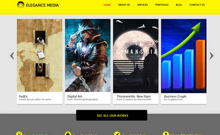 Clean business website template