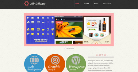 MiniMighty: Minimal website template