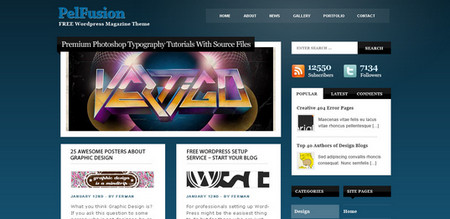 WordPress PSD Template