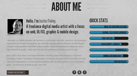 Justin Finley - Web Designer & Developer