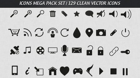 Free Mega Pack Vector Icons Set