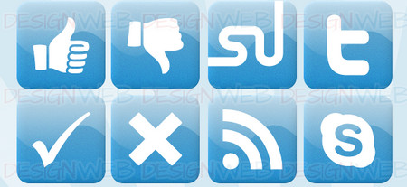 Social Developer Icons