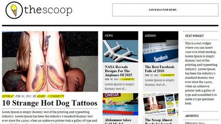 The Scoop – A Fantastic Free Magazine Styled WordPress Theme