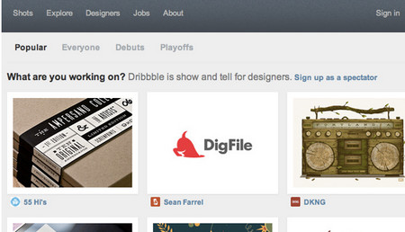 a Dribbble-Style Homepage Layout