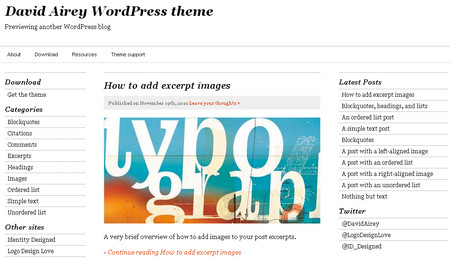 David Airey WordPress theme
