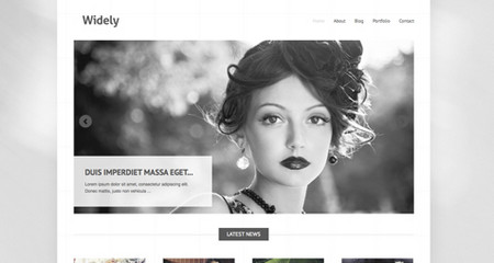 Widely is minimalistic theme perfect for for businesses