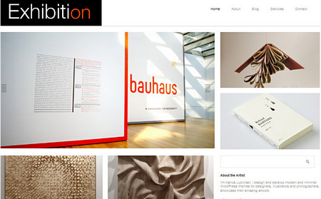 Exhibition Theme is clean and modern WordPress theme.