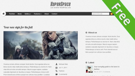 Hyperspace - Clean blog oriented theme