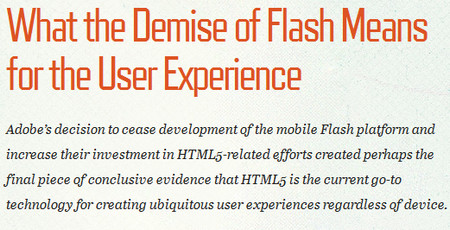 What the Demise of Flash Means for the User Experience