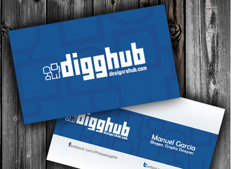 Business card psd template inspired by Digg