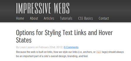Options for Styling Text Links and Hover States