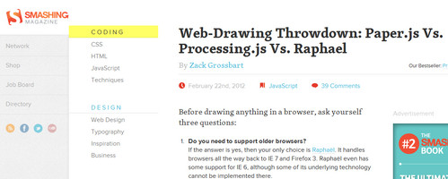Web-Drawing Throwdown: Paper.js Vs. Processing.js Vs. Raphael