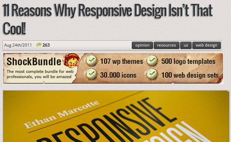 11 reasons why Responsive Design isn't that cool!