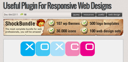 Useful plugin for responsive web designs