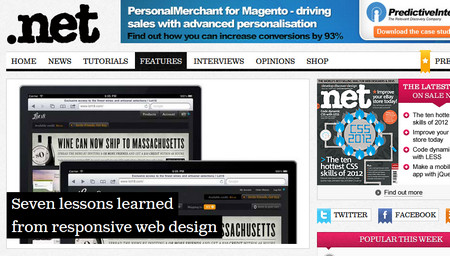 Seven lessons learned from responsive web design
