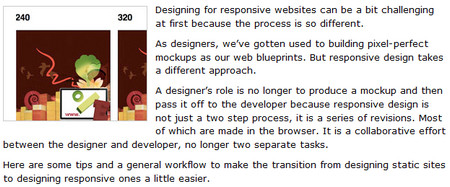Designing for responsiveness