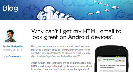Why cant I get my html email to look great on android devices