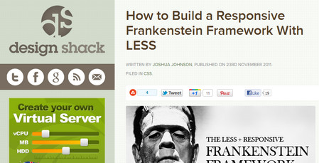 How to Build a Responsive Frankenstein Framework With LESS