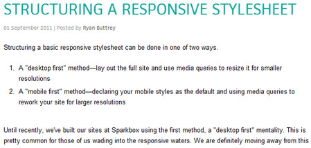 STRUCTURING A RESPONSIVE STYLESHEET