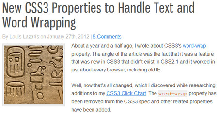 New CSS3 Properties to Handle Text and Word Wrapping