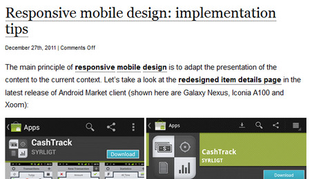 Responsive mobile design: implementation tips