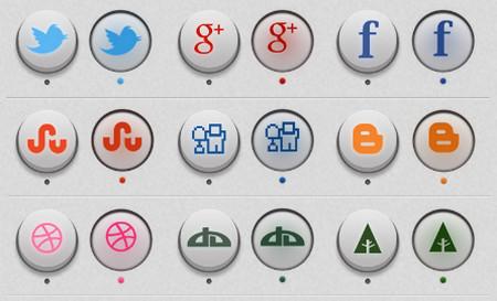 3D Circle Social Icons