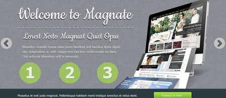 Magnate: Professional Website PSD Template