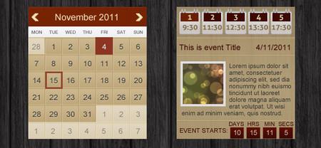 Grunge Event Calendar
