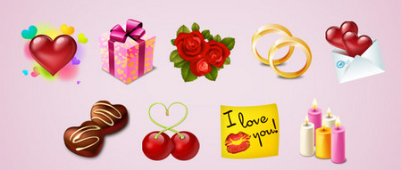 St Valentines Icon Set