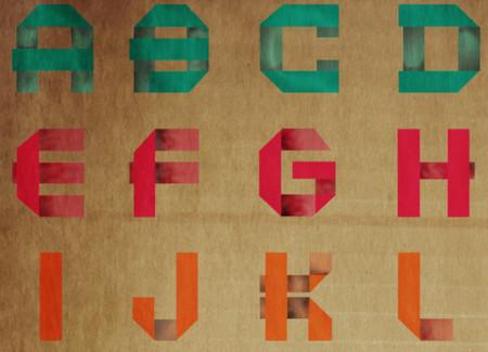 Final Folded Font Paper Poster