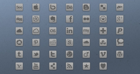 Light Grey Social Icons
