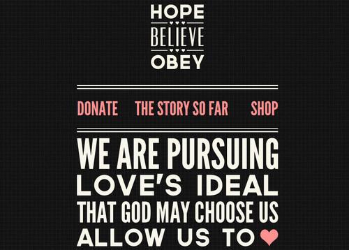 Hope Believe Obey