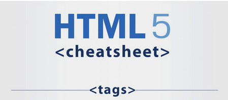 Infographic: HTML5 Cheatsheat