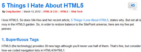 5 Things I Hate About HTML5