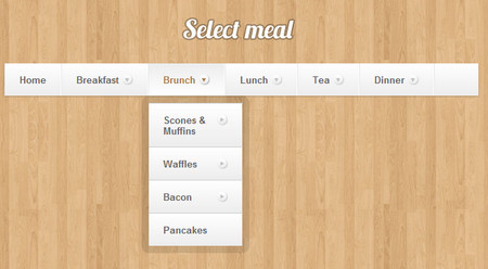 Bulletproof CSS3 Dropdown Navigation Menu