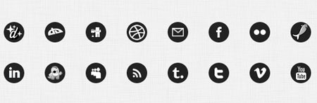 Clean Black Social Icons