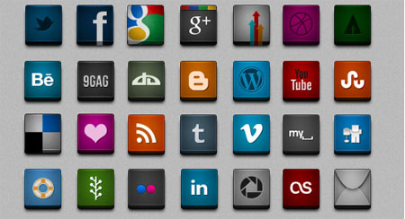 3D Social Networking Icons