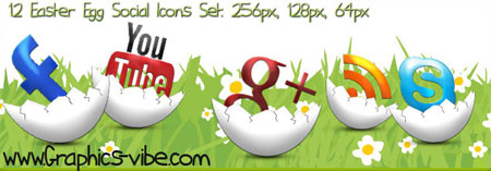 Easter Egg Social Icons Set