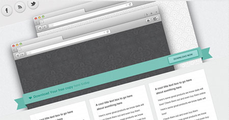 Ribbon - website template
