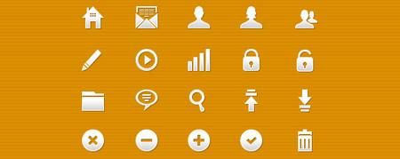 20 pixel-perfect glyph icons
