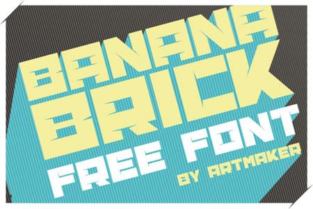Banana Brick Font