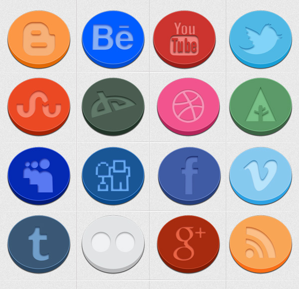 preview Oval Social Icons