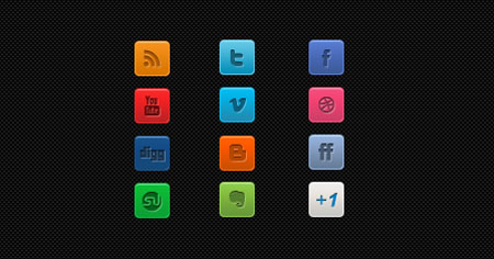 A Clean Mini Social Media Icon Set