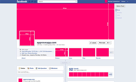 Facebook fan page gui