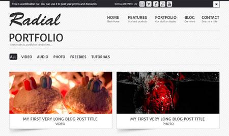 Radial Portfolio Site Template