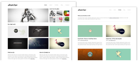 Simple Tape - a simple HTML template in a minimalist style