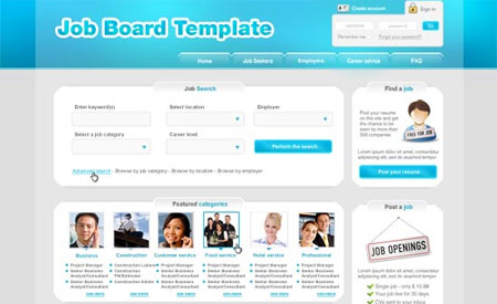 Job Board CSS / XHTML Template