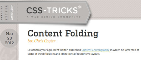 Content Folding