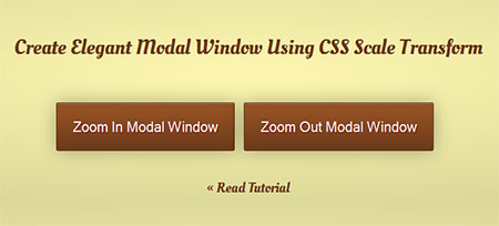 Create Elegant Modal Window Using CSS Scale Transform