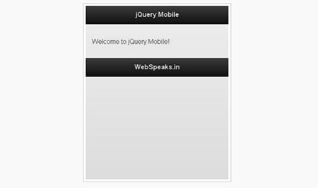 jQuery Mobile tutorial for Beginners